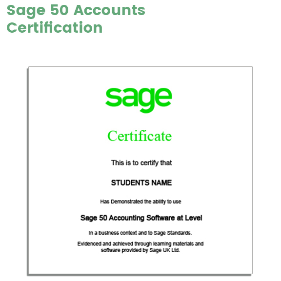 Link to Sage 50 Accounts Certification