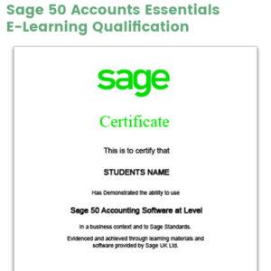 Sage 50 Accounts Essentials Certification